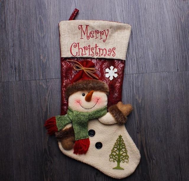 free shippingwholesale christmas party decorations santa claus christmas stocking candy socks christmas gifts bag - Wholesale Christmas Gifts