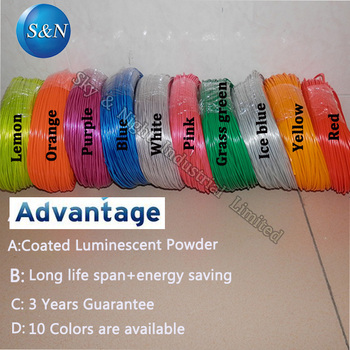Top Quality 2.3mm EL/EL WIRE/el cable/flexible neon light/party light/ with 10 colors option
