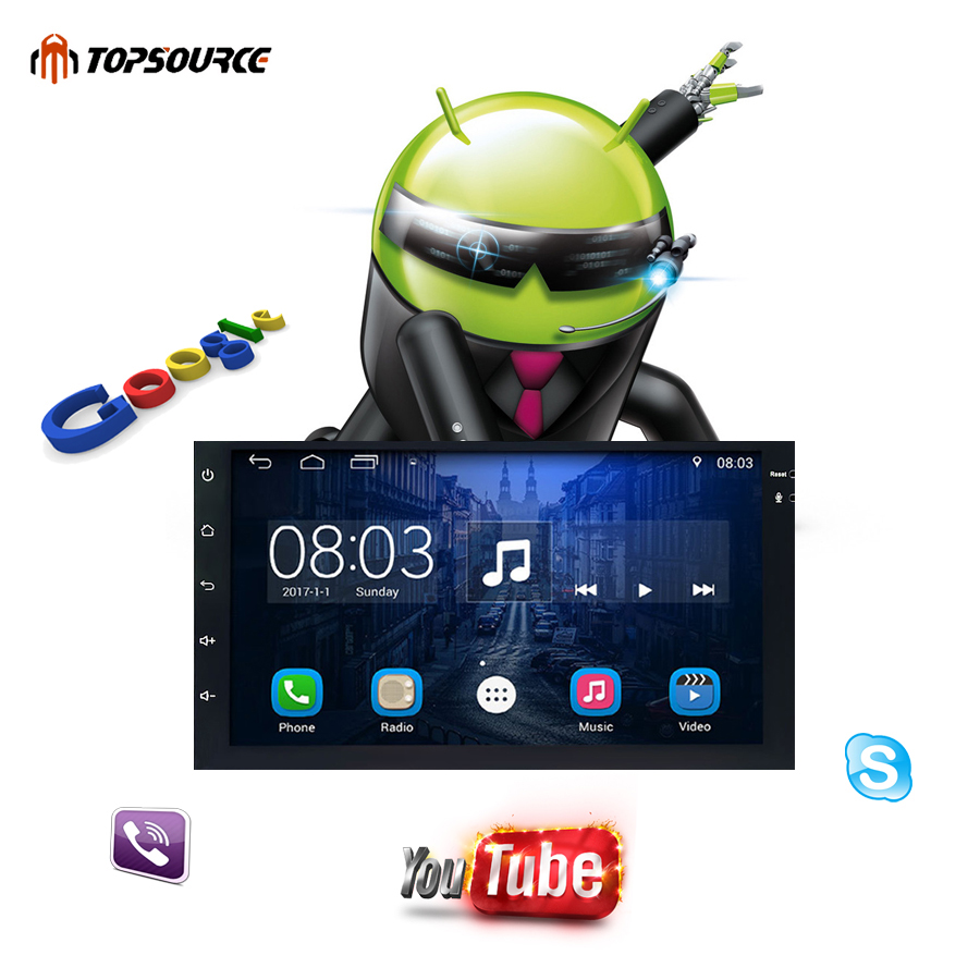 TOPSOURCE 7 universal 2 din car radio gps android 2din Car DVD Player GPS NAVIGATION For VW Nissan TOYOTA Volkswagen peugeot