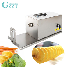 Electric Potato Spiral Cutter Slicer With Counter Twisted Tornado French Fry Vegetable