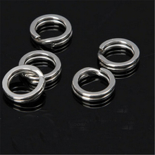 20pcs Split Fishing Ring  Stainless Steel Lure Fishing Accessory No Rust in Saltwater