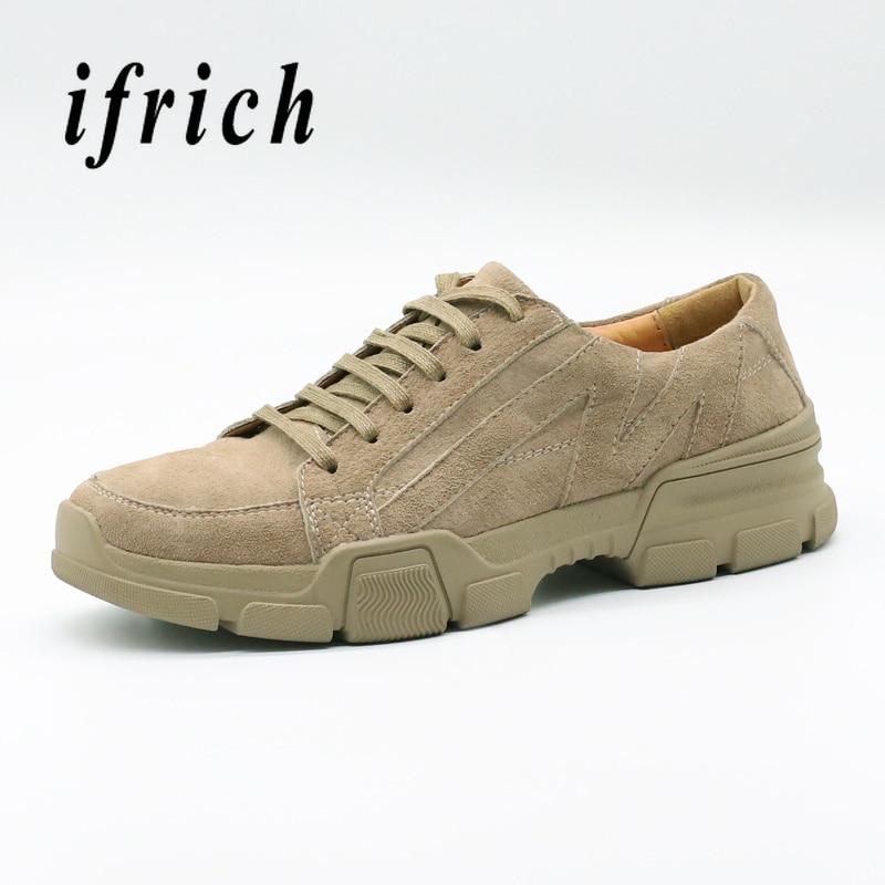 f424d12aa1d De Zapatos Los khaki La Goma Hombre Genuino Cuero deslizamiento Casuales  Anti Lujo Moda Negro Jóvenes Calzado Para ...
