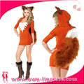 animal dress fox with tail one piece costume halloween cheap fox halloween costume W1553