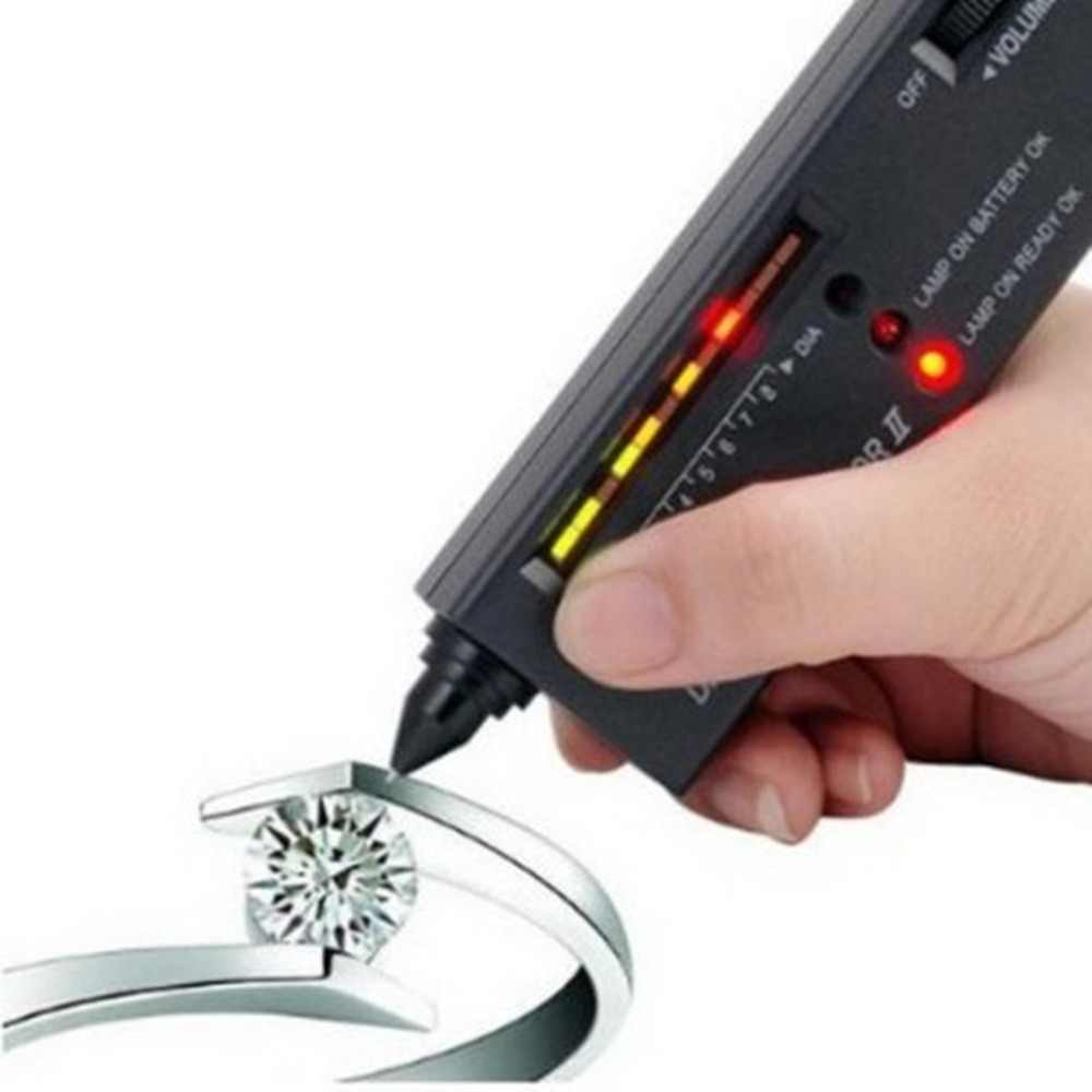 Diamond Gems Tester Pen Portable Gemstone Selector Tool LED Indicator Accurate Reliable Jewelry Test Tool
