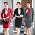 Professional Autumn And Winter Slim Fashion Business Women Work Suits With Jackets And Skirt Female Ladies Blazers Set Uniforms