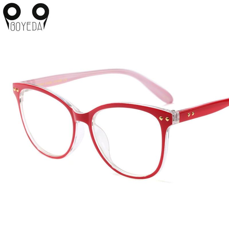 BOYEDA New Women Cat Eye Glasses Fashion Spectacle Frame Brand Female Vintage Computer Eyeglasses Retro Optical Eyewear 4