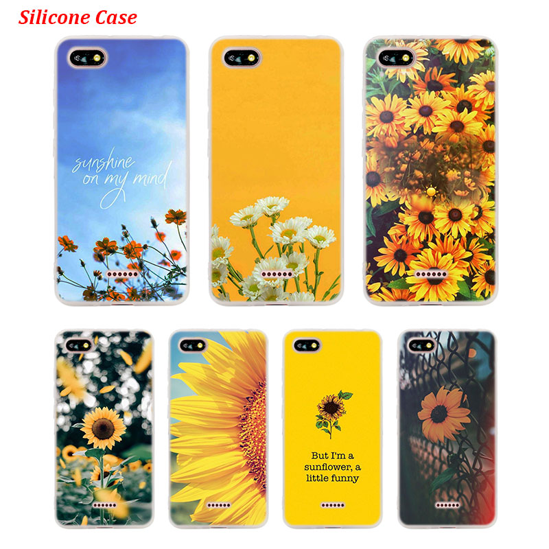 Silicone Phone Case Sunfowers fantasy show for Xiaomi Redmi S2 Note 4 4X 5 5Pro 5A Plus 6 6A 7 Pro Cover image