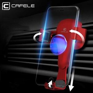 Image 4 - CAFELE reakcja grawitacyjna uchwyt samochodowy na telefon w samochodzie uniwersalny uchwyt na powietrze Vent stojak GPS telefon komórkowy uchwyt samochodowy do iPhone X XS 8