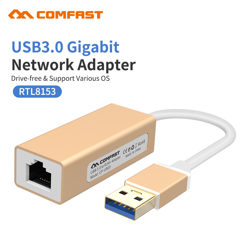Comfast USB Ethernet Adapter USB 3.0 2.0 Gigabit Network Card to RJ45 Lan Network for Windows 10 Xiaomi Mi Box 3 Ethernet USB