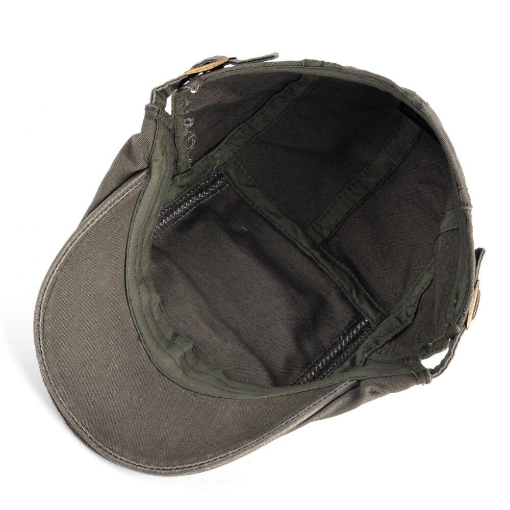 c9d67133b150d 2017 Adjustable Beret Hat For Men Washed Cotton Boina Caps Women ...