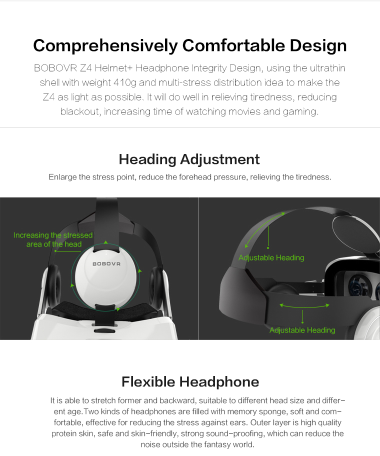 Original brand BOBOVR Z4 xiaozhai Virtual Reality 3D VR Glasses cardboard bobo vr z4 for 3.5 - 6.0 inch smartphones Immersive 8