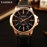 YAZOLE Watches Men Top Brand Luxury Famous Sports Quartz Watch Male Clock Rose Gold Wristwatch Quartz