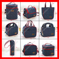 2pcs/lot 9 sizes available denim insulated lunch bag  thermal cooler