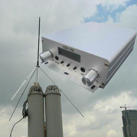 cze-15a 15w pll fm стерео вещания transmitter+power supply+gp антенны kit dhl ems бесплатной доставкой