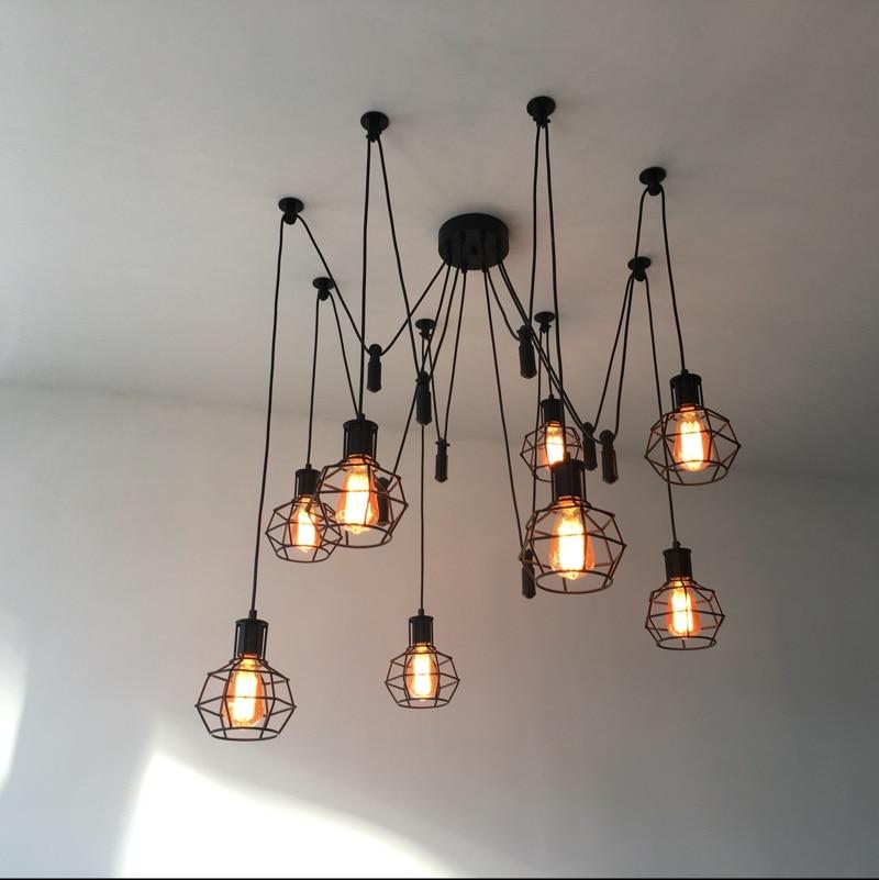 Vintage Nordic Spider Pendant Lamp Multiple Adjustable Retro Pendant Lights Loft Classic Decorative Fixture Lighting Led Home|Pendant Lights| |  - title=