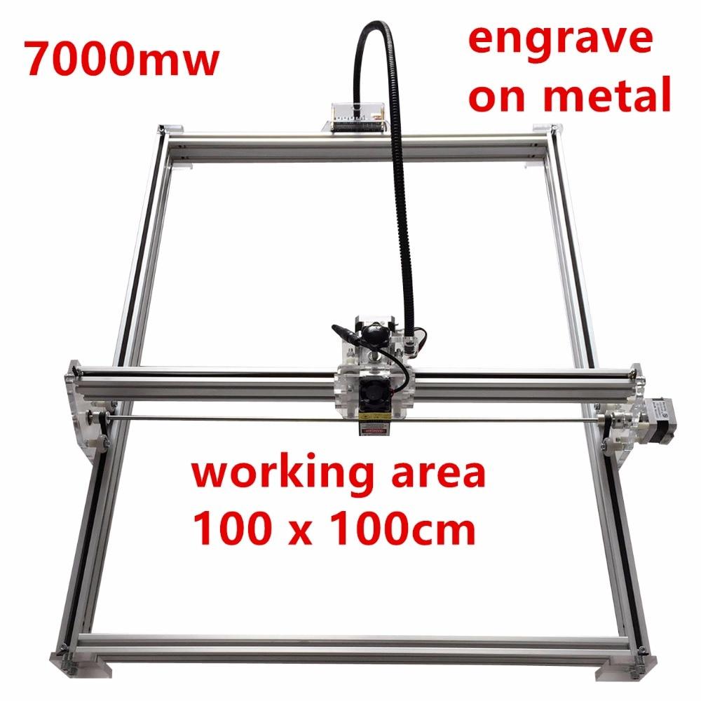 laser cutting machine, marking machine supports English, software working size 1 * 1m 7W laser engraving large size