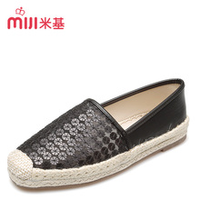 MiJi Women's Breathable Gauze Flat Slip on Loafers sequin  TPR Sole Casual Shoes for woman 2016 new summer fashion MX-91