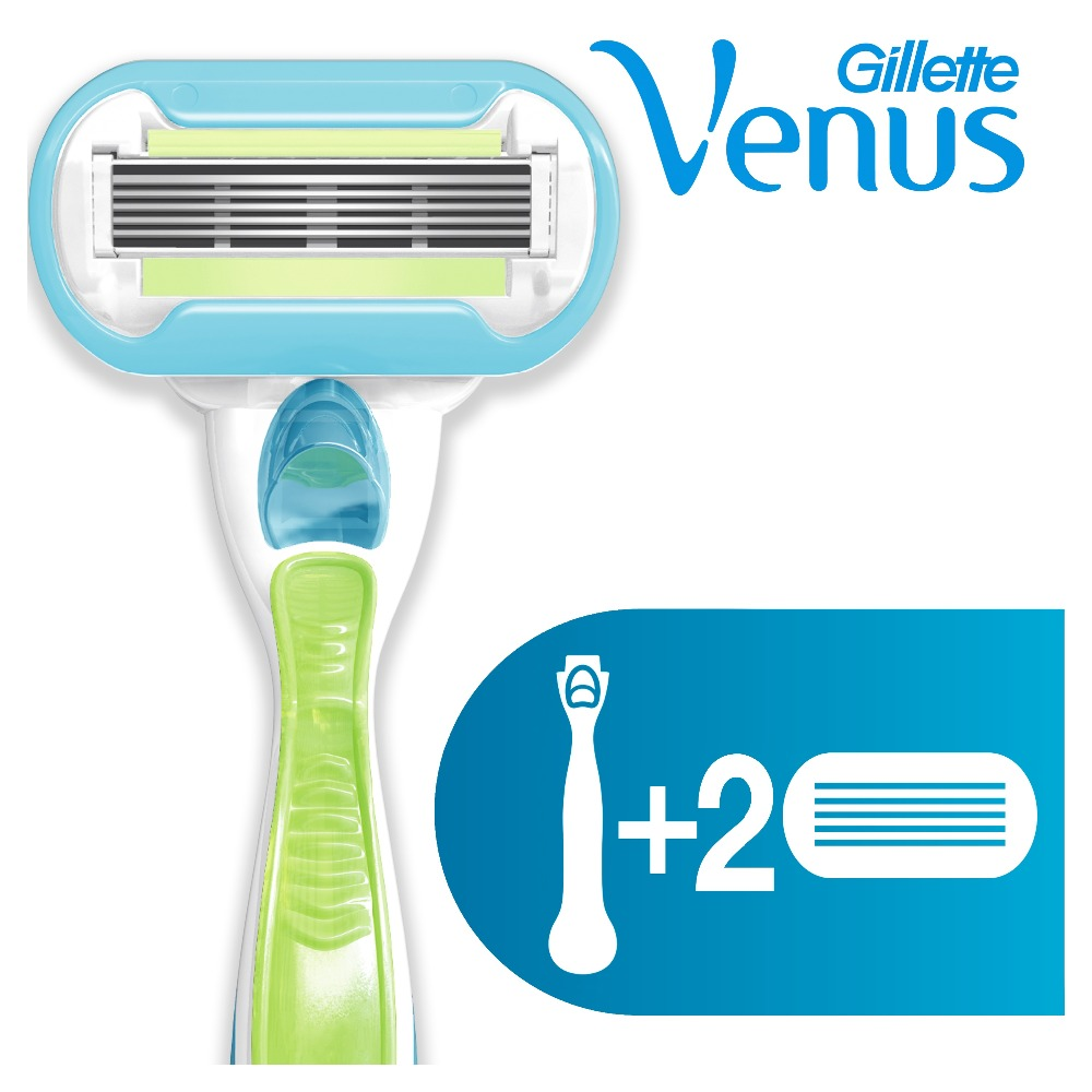 Razor Gillette Venus Embrace Shaver Razors Machine for shaving + 2 Razor Blades povos ps2203 washable electric single blade reciprocating shaver razor red