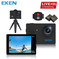 100% Original EKEN H9s Câmera de Ação Ao Vivo Streaming de Sessão EKEN H9 4 K WiFi Ultra HD À Prova D' Água Mini Câmera de Esportes