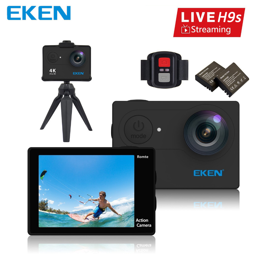 100 Original EKEN H9s Action Camera Live Streaming 4K WiFi Ultra HD Waterproof EKEN H9 Session