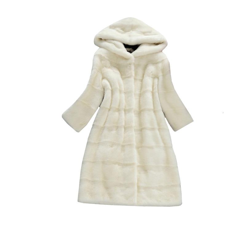 pink Renard Femelle Vêtements Hiver Grey Hoodies Mi Faux Blanc Manteau Dames Chaud light De White Nouvelle Artificielle black Vison Long Fourrure Femme Parka Veste ttOgaq