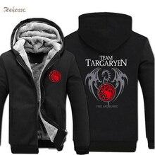 Game of Thrones Hoodie Men Targaryen Fire & Blood Dragon Sweatshirt 2018 Hot Sale Winter Thick Warm Hooded Top Quality Hoodies