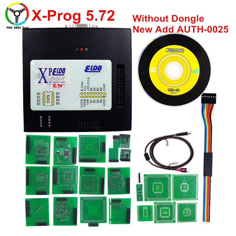 2018 Nouveau XPROG 5.72 Auto ECU Programmation Interface Noir Boîte En Métal XPROG M V5.72 Sans USB Dongle Mieux Que X Prog V5.6