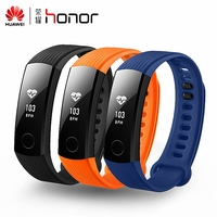 Original Huawei Honor 3 Smart Wristband OLED Touch Screen Swimmable 5ATM Heart Rate Monitor Push Message