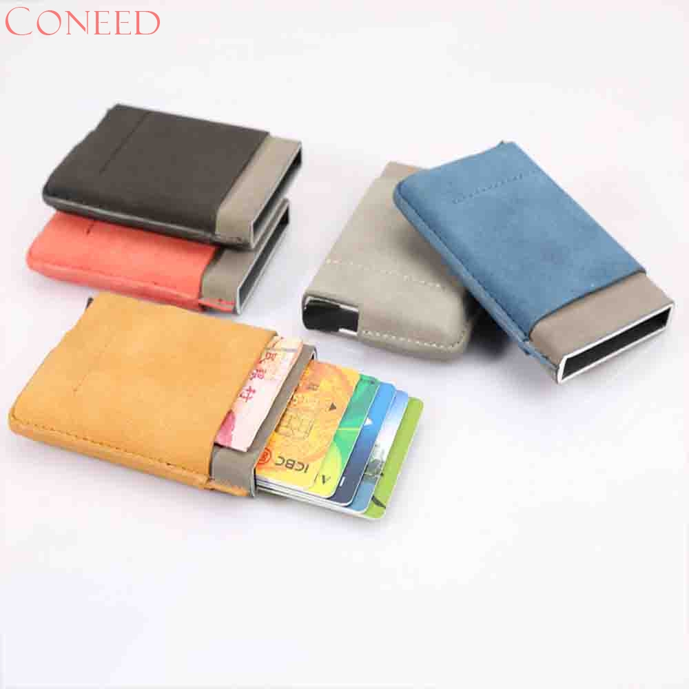 CONEED Business Name Card Holder Case Wallet Credit Book with Magnetic Shut Card Case Ho ...