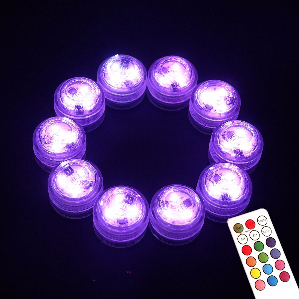 20 stk / lot LED Hvit nedsenkbar blomstervase Super Bright Bryllup - Ferie belysning - Bilde 3