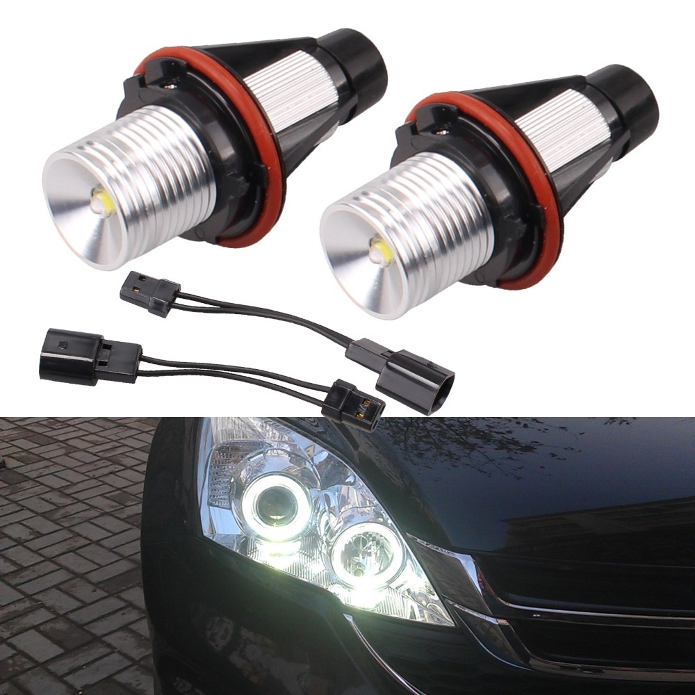 2Pcs High Power 6500K 5W Led Angel Eyes For BMW E39 6000K White Head Light Lamp Bulb For BMW E39 E53 E60 E61 E63 E64 E65 E66 X5 1 pair free shipping high power cree angel eyes led maker lamp fit for bmw e39 e53 e60 e61 e63 e64 e66