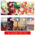 Cute Giraffe Deer Stylish Solf TPU Case for Alcatel one touch Pixi 4 OT-5010 5010D 3G Flowers Stand Design DIY Fashion Pixi 4