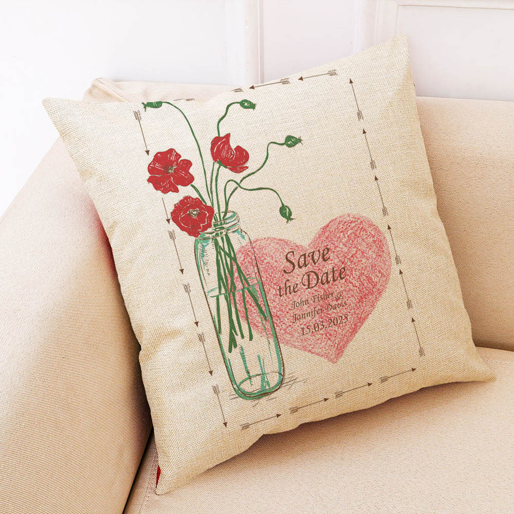 Image 5 - Sunmer Time vase Multicolor printing Pillow Covers Linen Blend High Quality Sofa Waist Throw Cushion Cover Bed Home Decoration-in Cushion Cover from Home & Garden