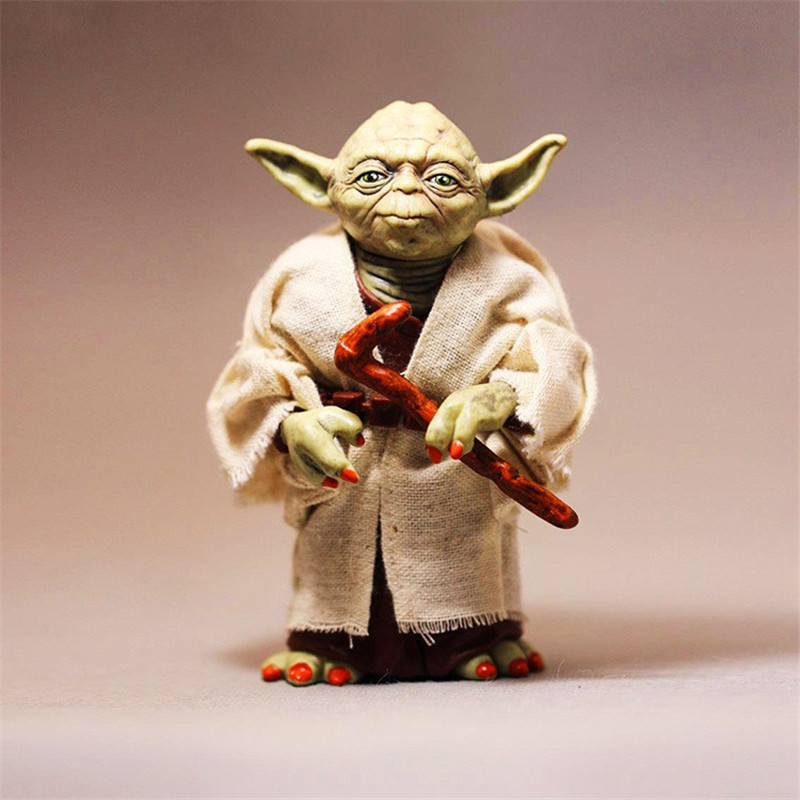 Marvel Star Wars Yoda Darth Vader Stormtrooper Action Figure Toys The Force Awakens Jedi Master Yoda Anime Figures Lightsaber