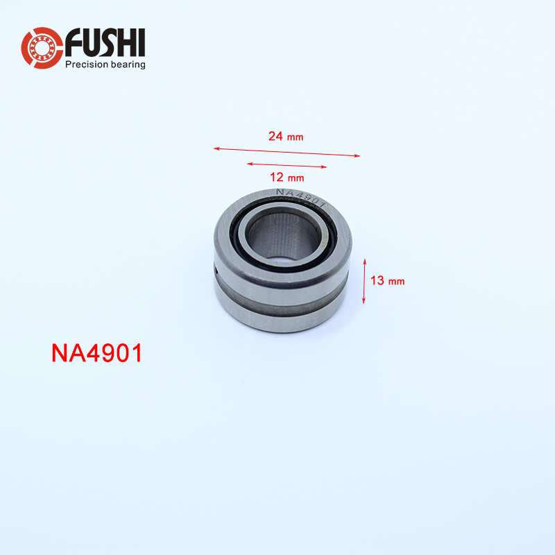 NA4901 Bearing 12*24*13 mm ( 1 PC ) Solid Collar Needle Roller Bearings With Inner Ring 4524901 4544901/A Bearing sce2020 bearing 31 75 38 1 31 75 mm 1 pc drawn cup needle roller bearings b2020 ba2020z sce 2020 bearing