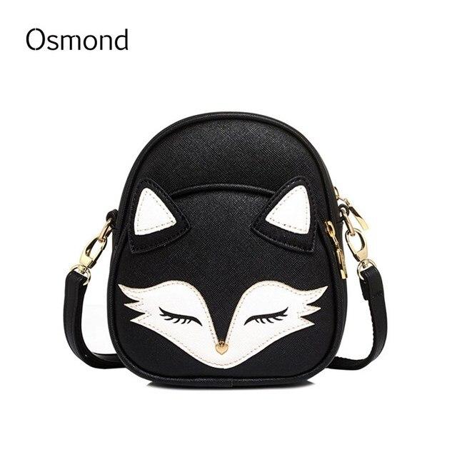 osmond fox coelho bonito urso gato rosto saco dos desenhos animados