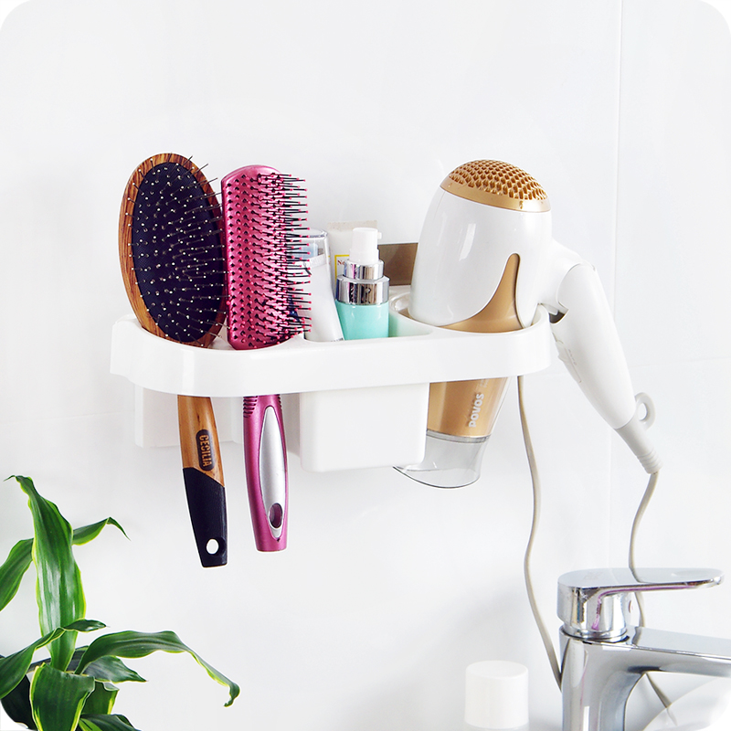 Us 20 99 Magic Seamless Hair Dryer Machine Storage Rack Wall Hairdryer Holder Bathroom Shelf In Holders Racks From Home Garden On
