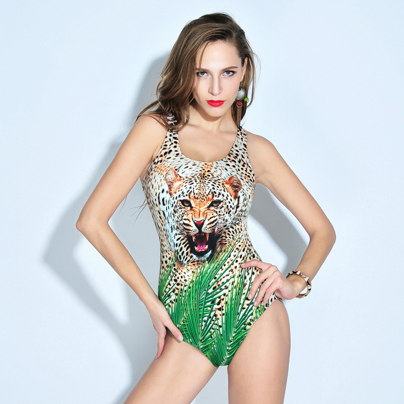 Popular Hot Sell Push Up One Piece Swimsuit Leopard Print Bathing