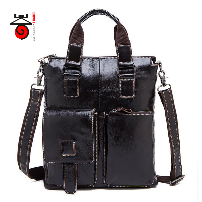 Senkey style Fashion Genuine Leather Men Bag Messenger bags casual Men's Travel bag man leather crossbody shoulder bags Handbags senkey style simple fashion genuine leather men bags high quality men s crossbody bag male casual handbag shoulder messenger bag