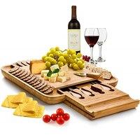 Cheese Plate Set Western Steak Cutlery Creative Bamboo Cake Board European Knife And Fork Set Fruit Plate Bread Board
