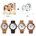 BOBO BIRD пользовательские часы с изображением мужчин и женщин влюбленных Кварцевые аналоговые часы повседневные крутые часы гравировка логот...