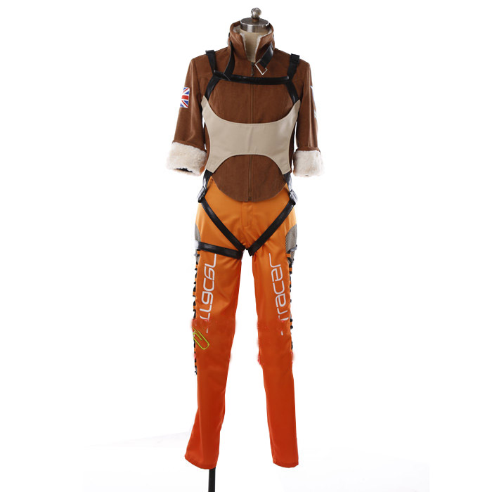 2017 Tracer Cosplay Costume Superhero Woman Battle Suits