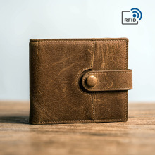 Daffdoil Handmade Genuine Leather Wallet Men Women Original Design Organ Cattle Rfid Wallets Gift