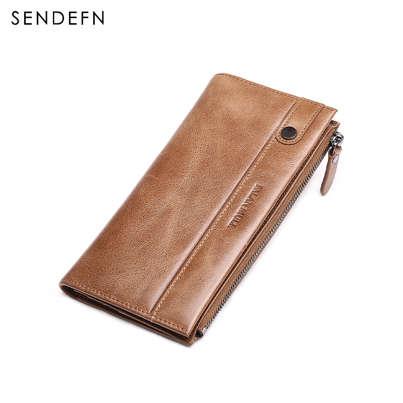 FALAN MULE vintage genuine leather men wallets long casual male clutch purse credit card holder wallet with zipper pocket new men genuine wallet fashion casual pu credit id card holder purse wallet long business male clutch hot selling 2016