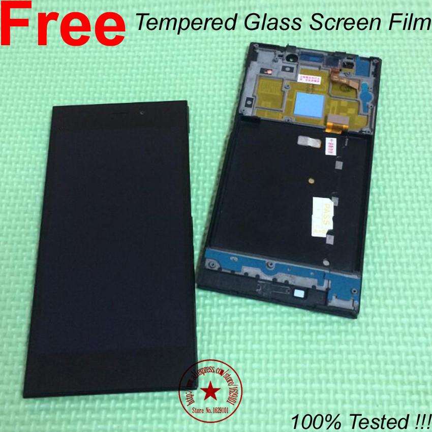 Prix pour 100% Testé Écran LCD Full Écran Tactile Digitizer Assemblée + cadre/Lunette Pour Xiaomi Mi3 M3 WCDMA Pièces + Trempé Verre Film
