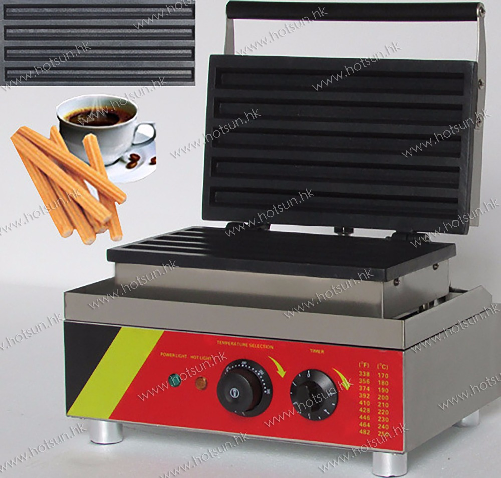 5pcs 110v 220v Electric Commercial Churro Waffle Maker Iron Machine Baker commercial 5l churro maker machine including 6l fryer