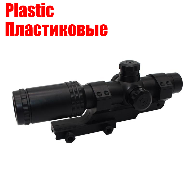Tactical 8x Sight Scope Adjustable Red Green Dot Riflescope Hunting Optics Holographic Sight Toy Gun Plastic Accessories