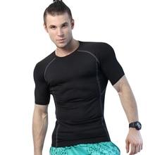 Compression Tennis Soccer Jerseys Tight Fitness Gym Men'S Sportswear Running Short T-Shirts Demix Sport Suit