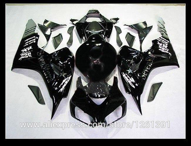 Подходит инъекции Обтекатели для Honda CBR1000 06 07 CBR1000 RR 2006 2007 CBR 1000RR 06 07 черный обтекатель для мотоцикла наборы#77 стха