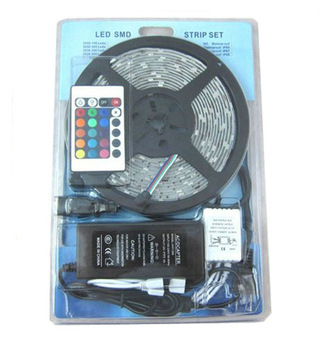 цена на Promotion!!! SMD 5050 RGB Led Strip Flexible Light 60led/m 300 LED/5m IP65 DC12V/24V+ Controller + 6A Power Supply